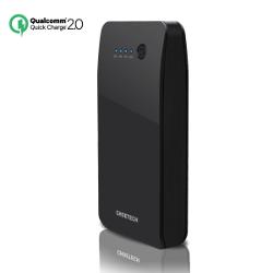Quick Charge 2.0 Power Bank-CHOE B611Q 15600mAh(Apple Lightning Charging Port)Portable External Battery Fast Charger(5V/9V/12V Supported, Quick Charge Input and Output)