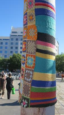 ByHaafner, crochet, granny square, yarn bomb, Lisbon, bright
