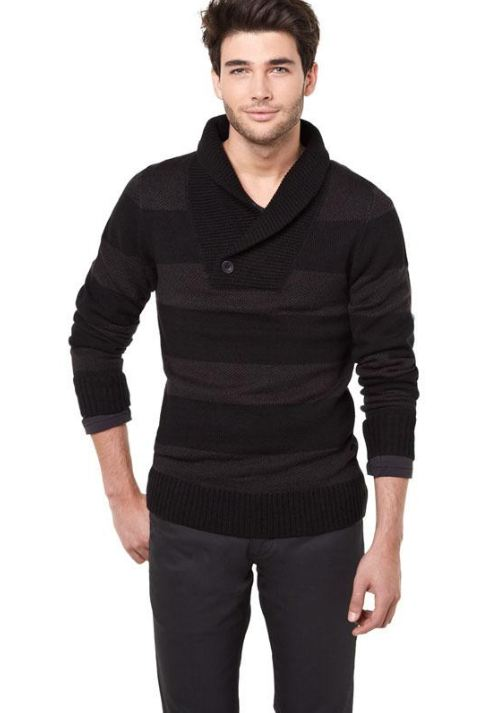 RWCO cool factor collection Two-tone striped sweater, men's fashion, Vancouver, Fall staples