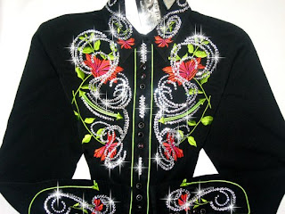 Just Fly Designs Western Show Shirt
