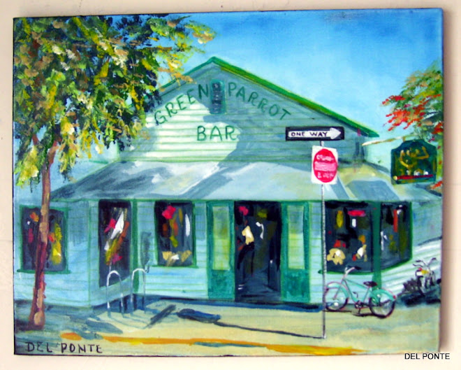 """Green Parrot Bar"" oldest bar in Key West by Del Ponte"