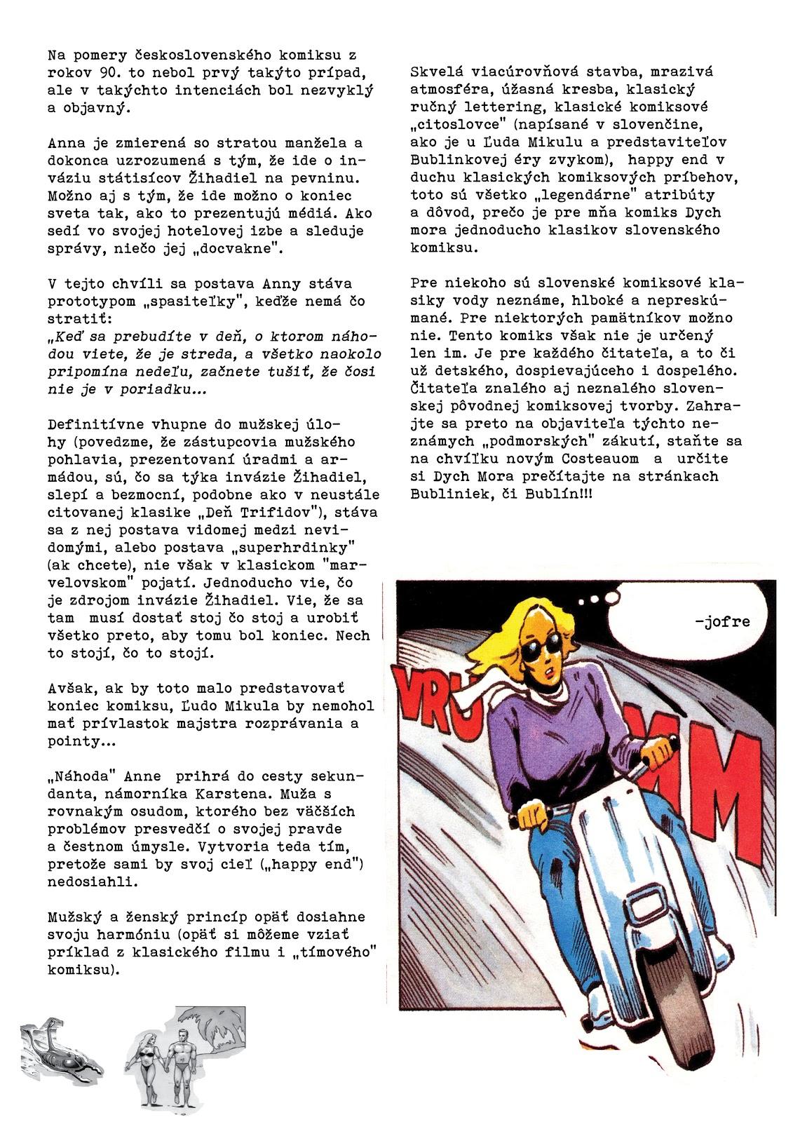Jofre Uvadza Bubliny Comics Dych Mora ľuda Mikulu