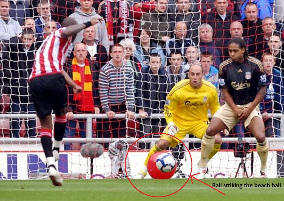 Sunderland, Liverpool, Darren Bent, 17 Oct 2009, 17 10 2009, Beach Ball, Goal, Strangest, Football, Video