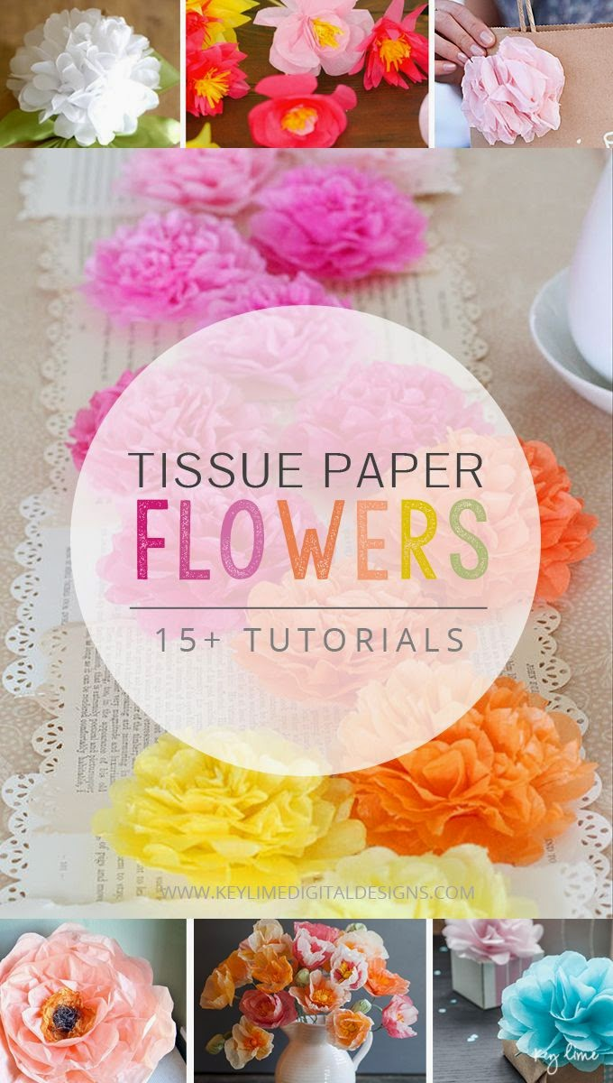 15 Tissue Paper Flower Tutorials