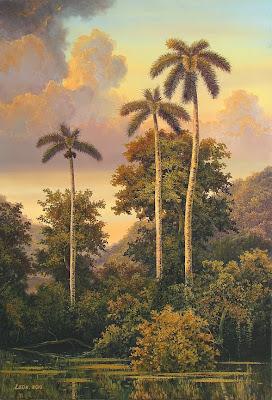 atardecer-con-palmeras-al-oleo