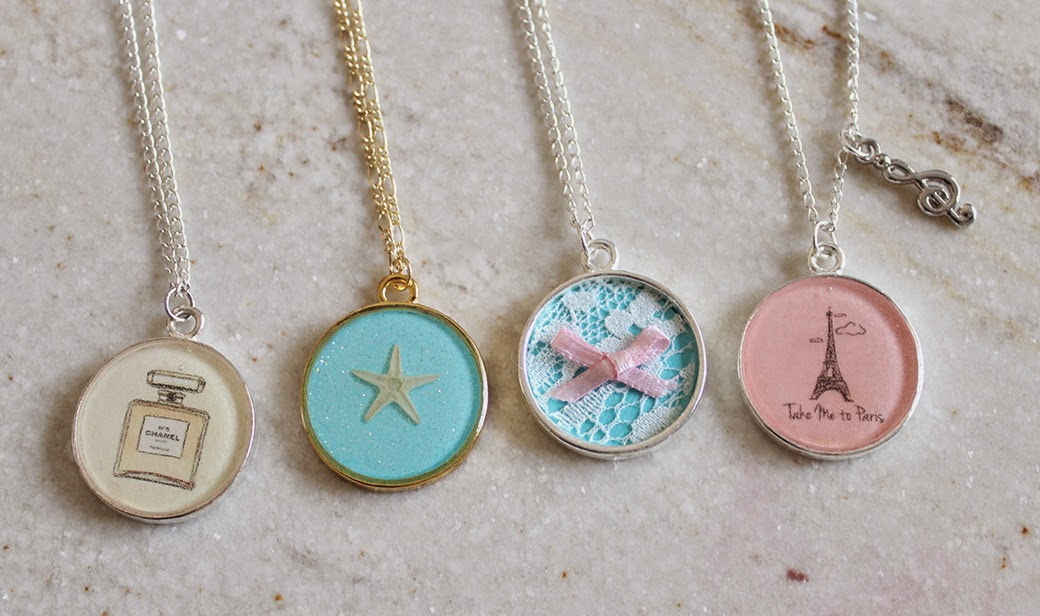 Diy Resin Necklace Customizable Photo Necklaces Resin Or