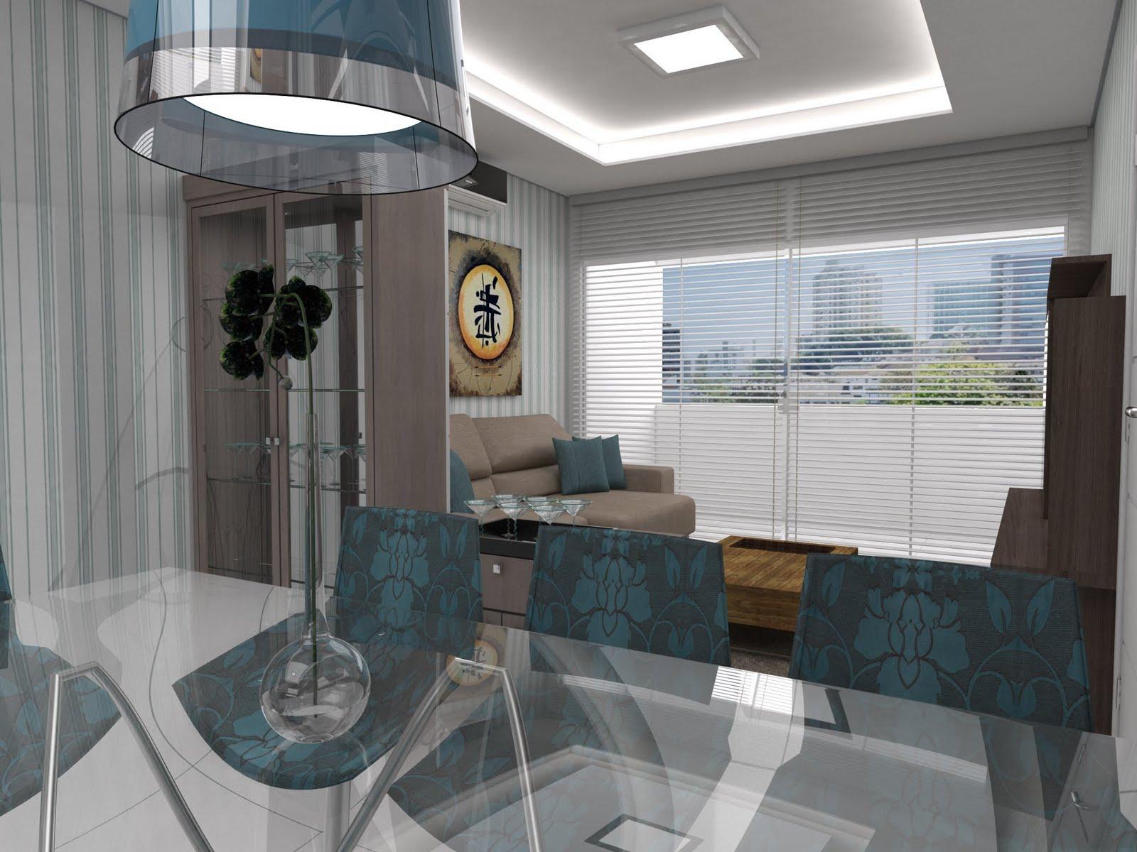 Painel de vidro separa sala de estar e jantar #415259 1600 1200