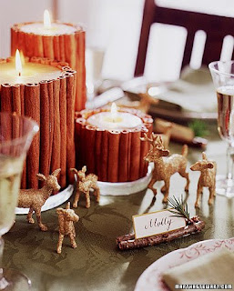 Cinnamon candles.