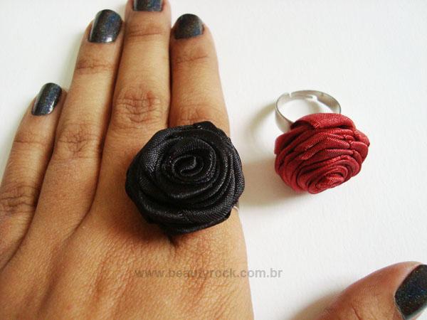 Como Fazer anel de rosa