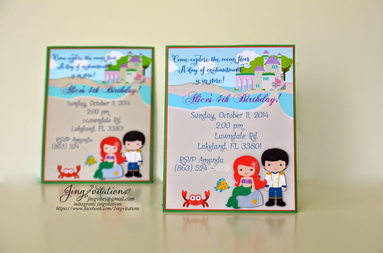 under_the_sea invitations