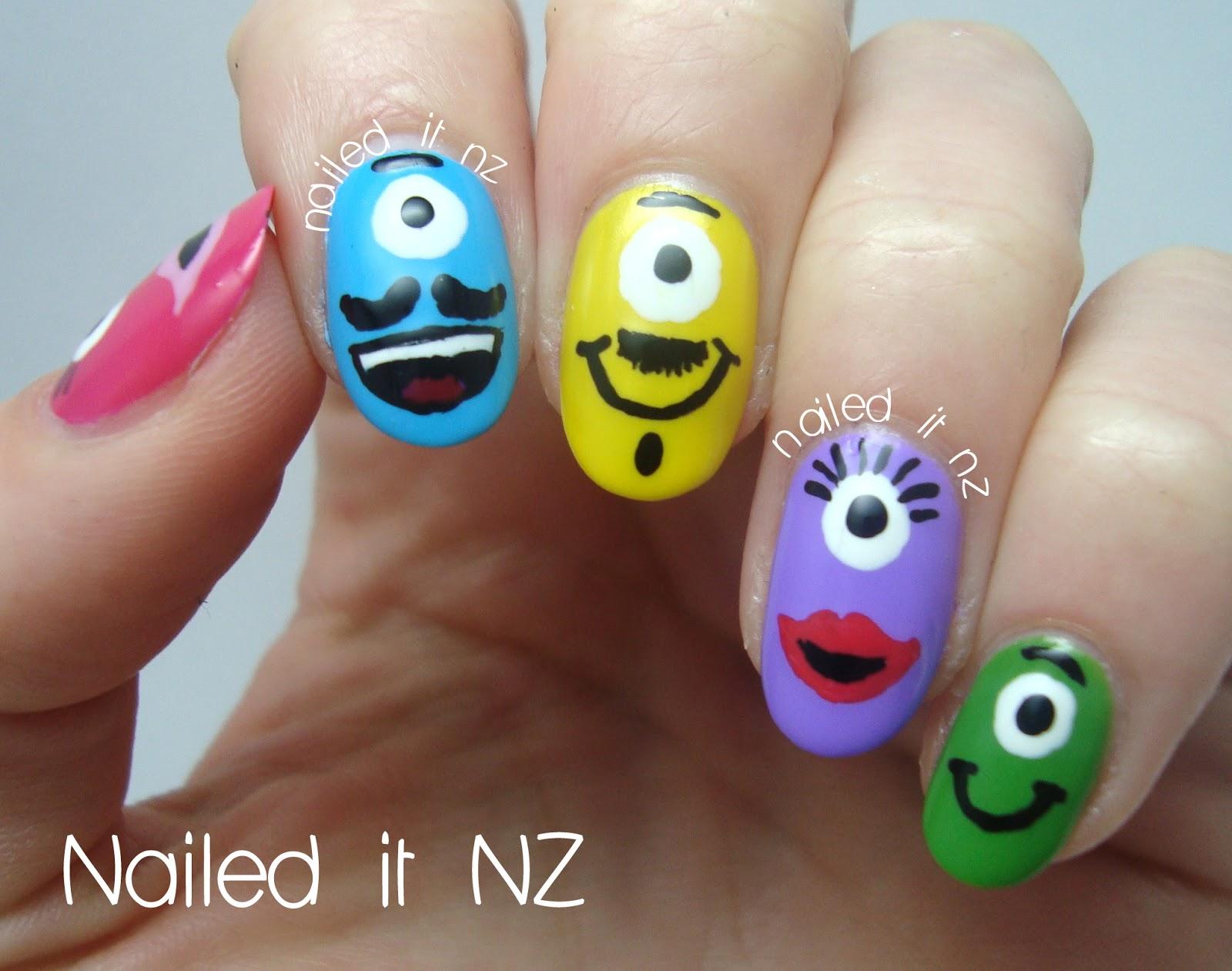 Little Monsters Nail Art Tutorial