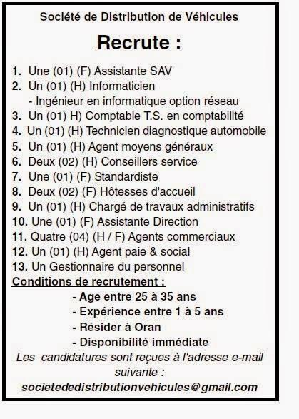إعلانات توظيف في القطاع الخاص لعدة ولايات فيفري 2015 10941019_92028084131