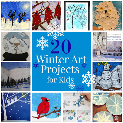 20 Winter Art Projects for Kids {The Unlikely Homeschool}