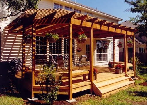 Backyard Deck Images : deck design with open roof wood, backyard deck ideas, backyard deck