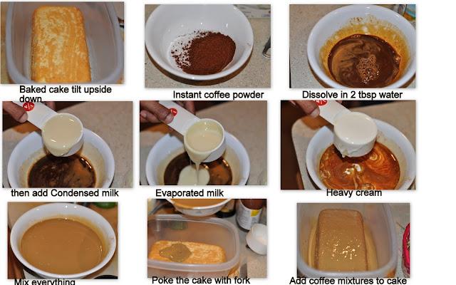Tres leches pastel con sabor a café /Coffee Flavored Tres Leches Cake ...