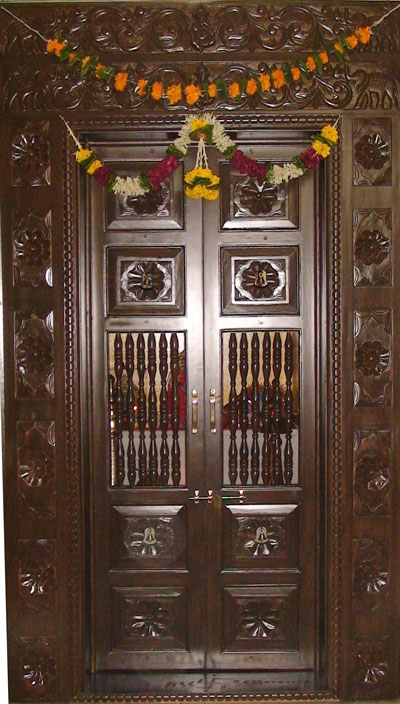 Latest pooja room door designs 2013 wood design ideas for Room door design for home