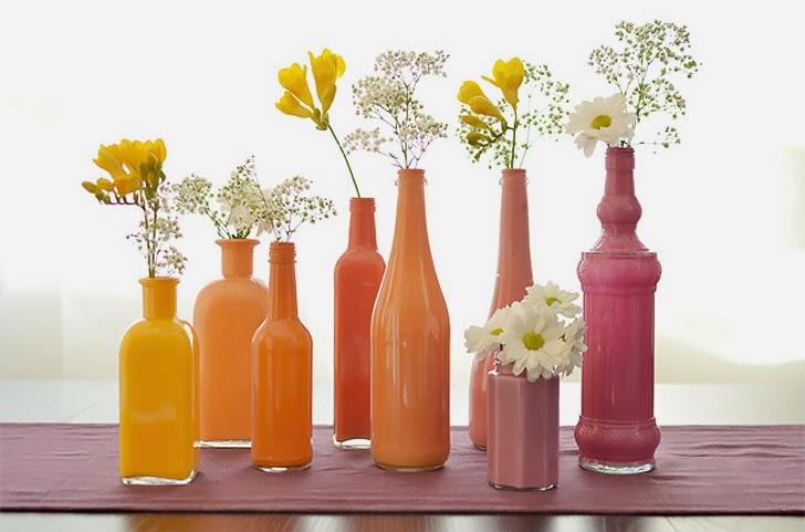 garrafas pintadas como fazer?