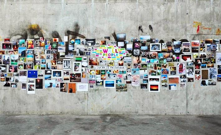 Arte y arquitectura un collage en la pared originales ideas para decorar - Decorar con fotos en la pared ...