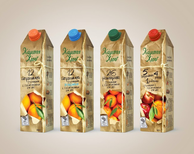 Packaging design inspiration #12 - Chios Gardens NFC Juices by 2yolk