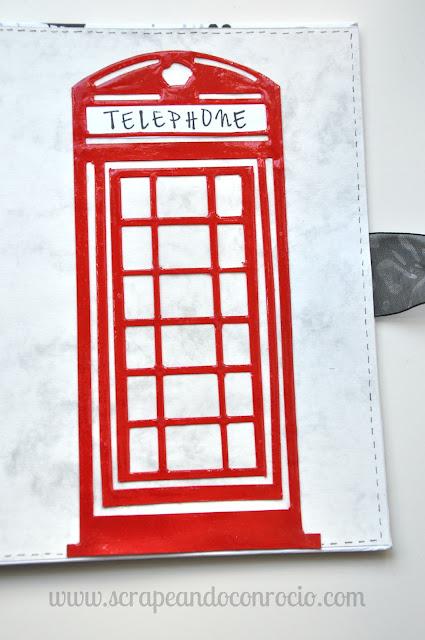 Mini álbum viaje Londres scrapbooking