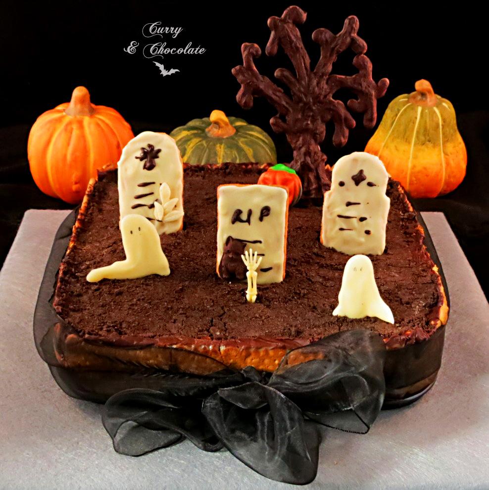 Tarta cementerio para Halloween - Halloween cemetery cake