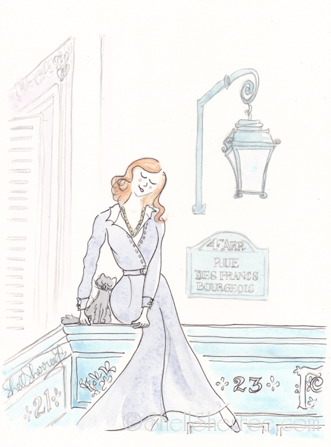 Fashion and Fluffballs illustration : Paris Poise and Vintage Vogue © Shell-Sherree