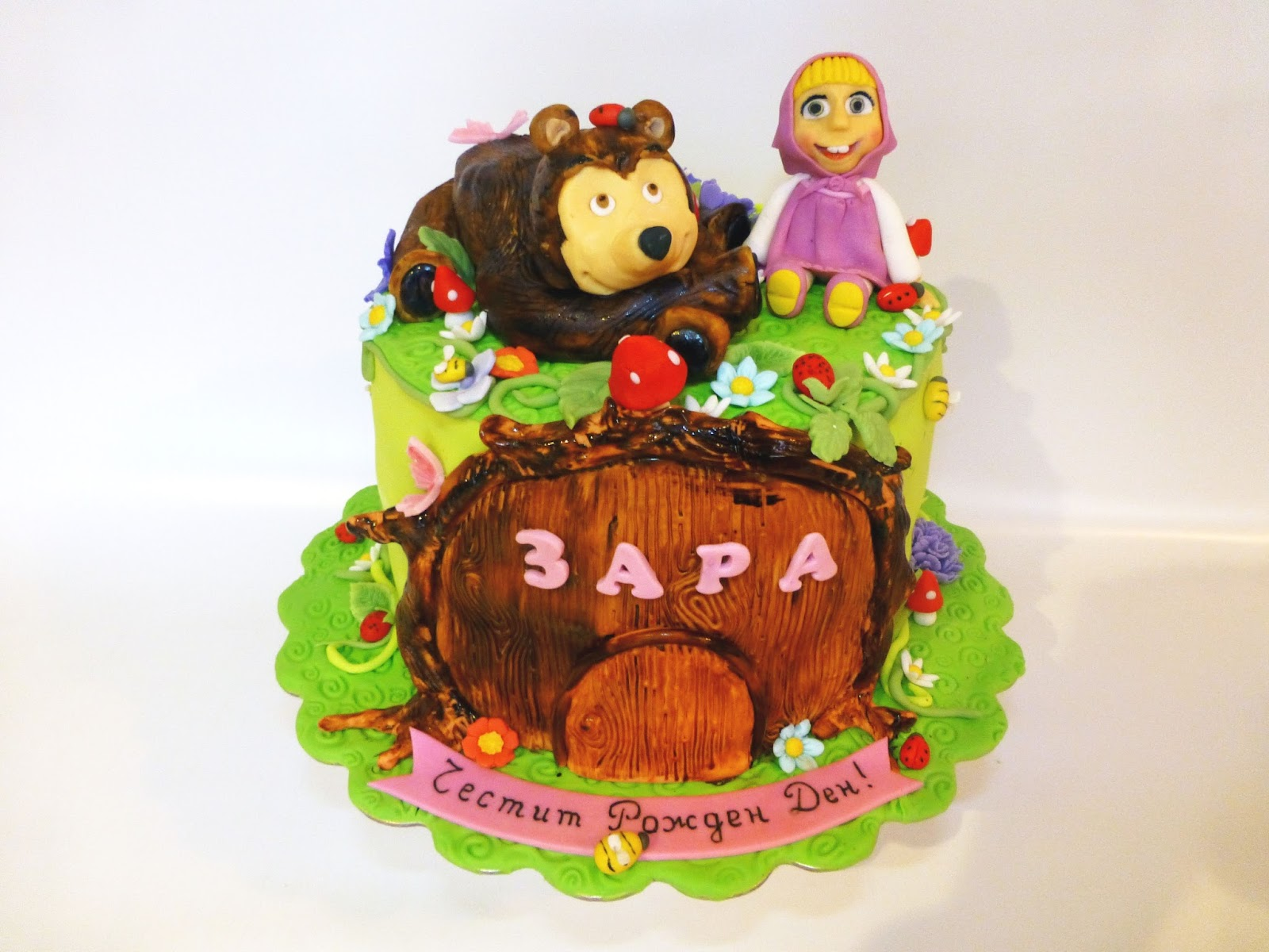 CakeSophia Masha and the bear cake