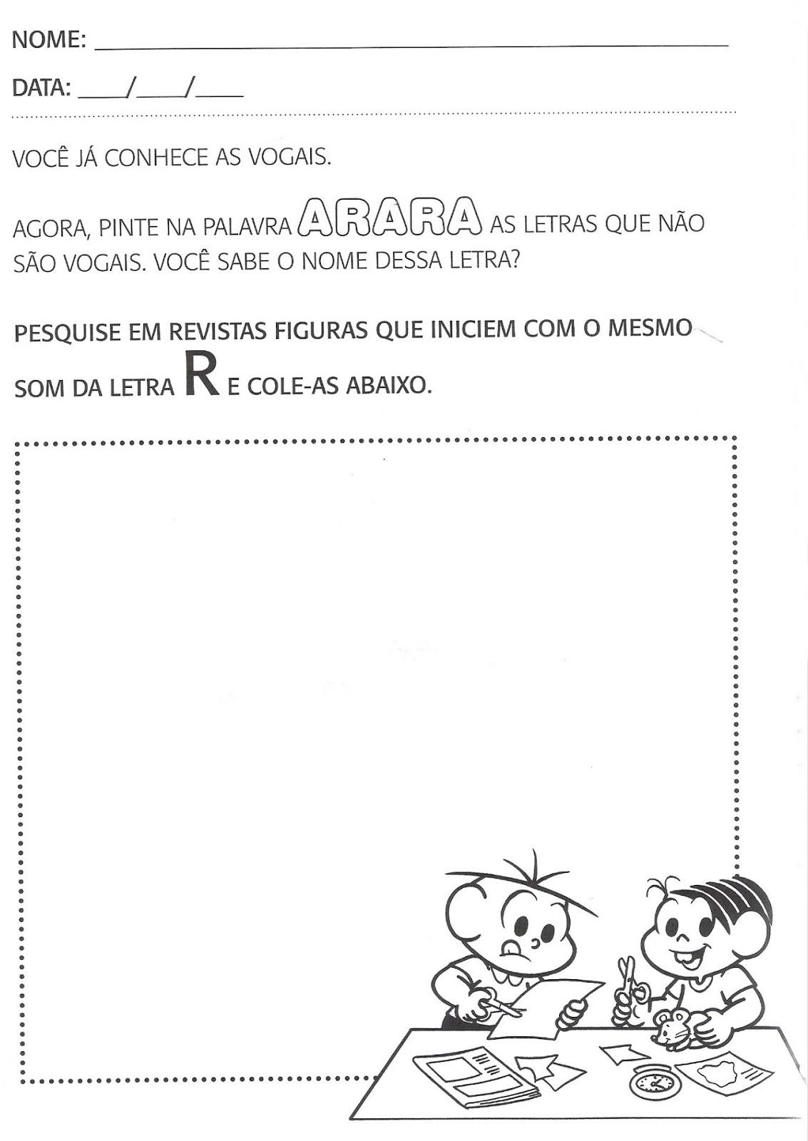 Atividades De Português Para Segundo Período Educação Infantil
