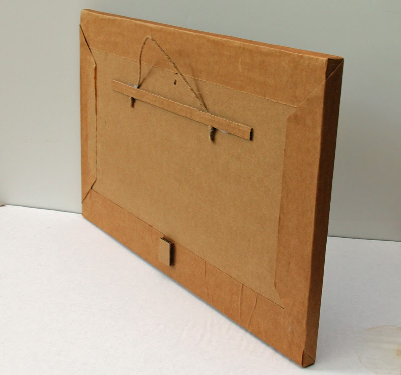 Cardboard Shadow Box - back
