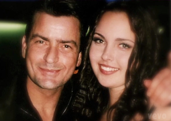 Charlie Sheen and his daughter Cassandra jade Estevez