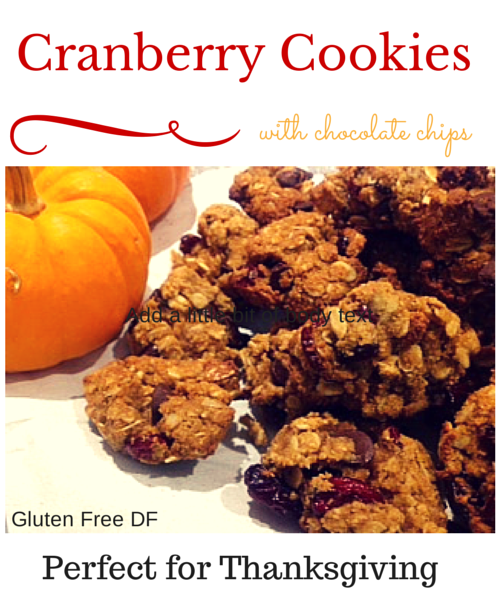 Thanksgiving holiday cookies- gluten free