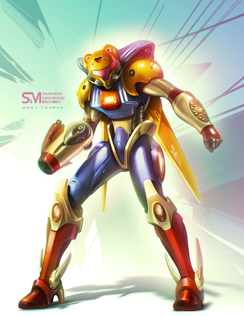 sailormoon + super metroid por irawan