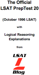 LSAT Blog PrepTest 20 October 1996 LSAT PDF
