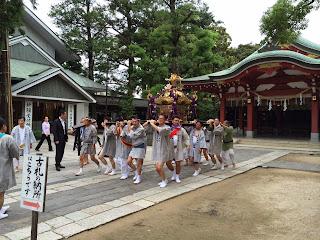 八坂神社神輿発輿祭(平成26年7月19日)