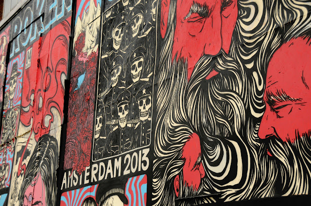 details of street art piece by broken fingaz in amsterdam 2