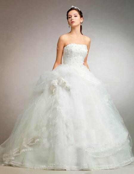 chọn váy cưới váy cưới họa tiết nhỏ