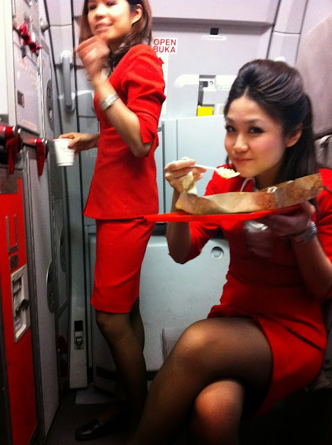 Airasia Air Hostess Air Asia Air Hostess With