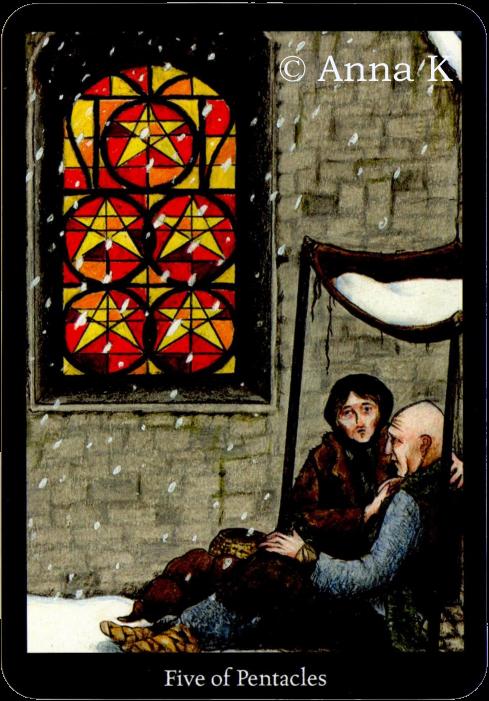 Anna K Tarot five of Pentacles