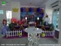 Tema Princesa Sofia para festa de aniversário infantil de meninas - mesa ornamentada para festa de meninas