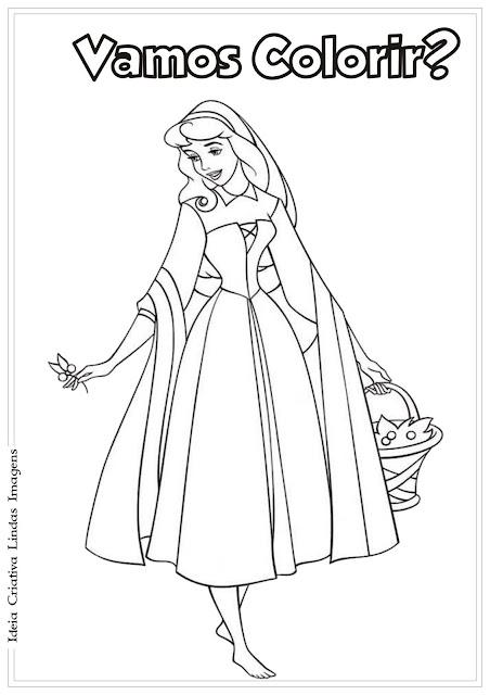 Princesa da Disney Aurora para colorir/A Bela Adormecida para colorir