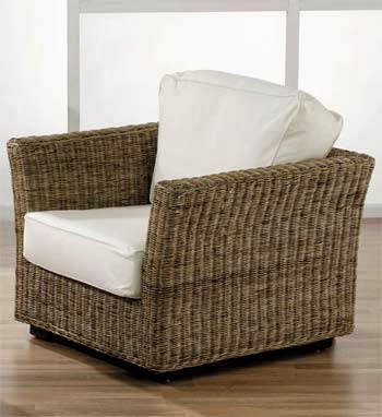fauteuil blanc en rotin
