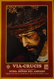 Cartel del Vía-Crucis de Nuestro Señor del Amparo.