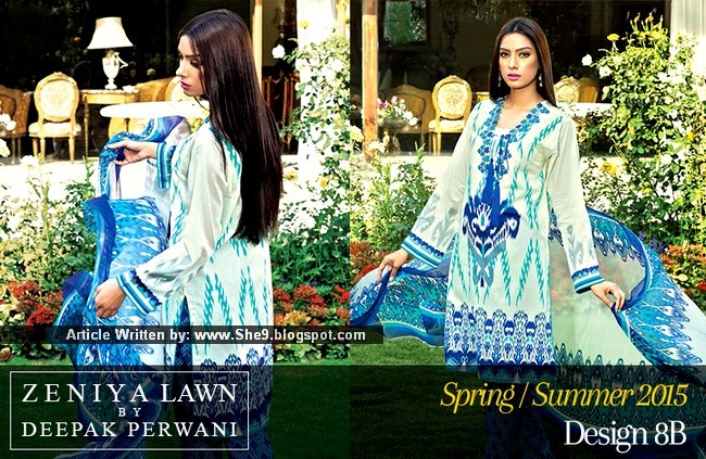Deepak's Zeniya Lawn Collection 2015