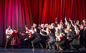 Ben Johnson, Corinne Winters and chorus ENO La Traviata (c) Tristram Kenton Feb 2013
