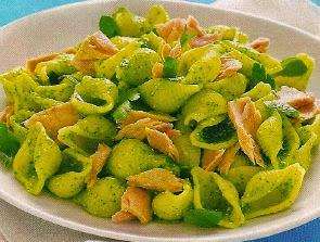 Receta Pasta Caracoles con Atun
