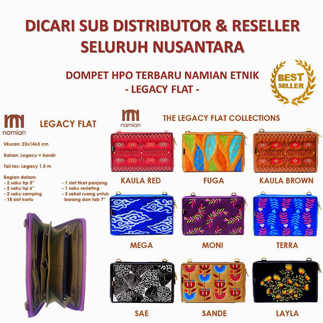 Dompet Wanita Terbaru Namian Etnik Legacy Flat