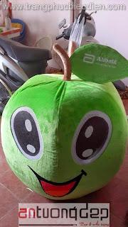 may bán mascot trái táo