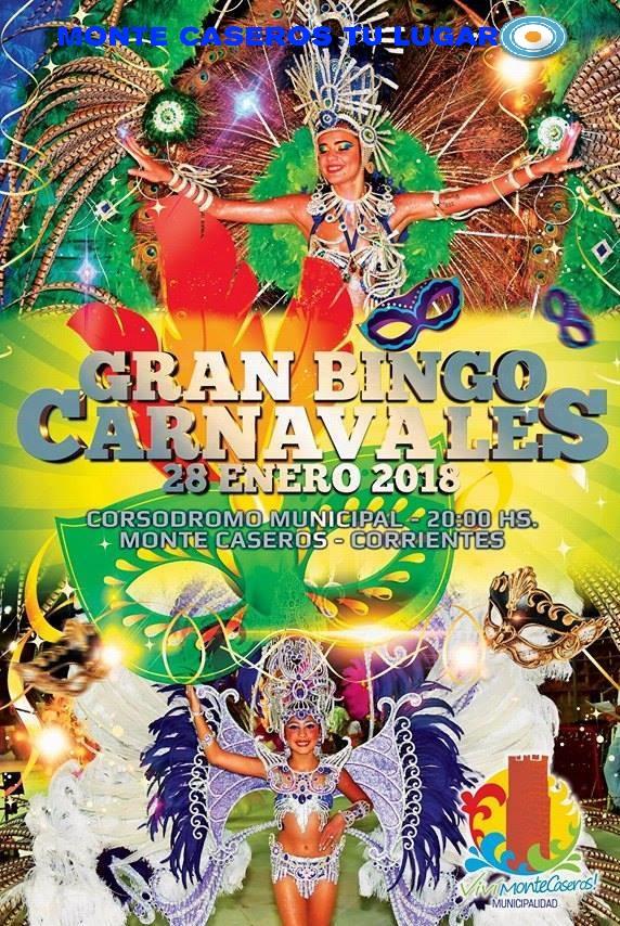 Bingo carnavales 2018