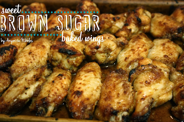 """Sweet Brown Sugar Baked Wings from www.anyonita-nibbles.com One pinner said, """"These are the most amazing, sweet and crunchy wings I've ever eaten!"""""""