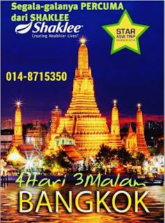 Shaklee Labuan; percutian ke Bangkok secara percuma; Shaklee Malaysia; Group Shaklee paling aktif di Labuan